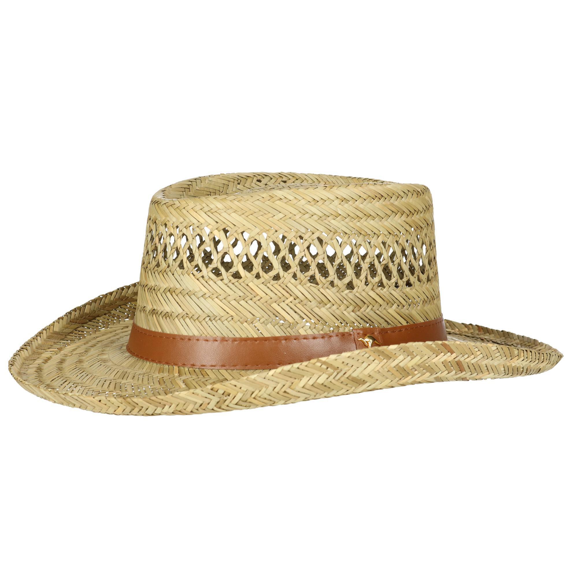 e6981ec93fa9a Dorfman Pacific Rush Straw Lightweight Gambler Hat with Wide Brim ...