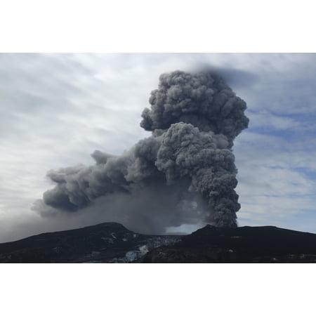 Eyjafjallajokull Eruption Iceland Canvas Art   Martin Rietzestocktrek Images  17 X 12