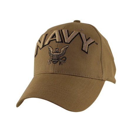 Coyote Military Baseball Caps 100% Cotton w/ Embroidered Emblem US Navy