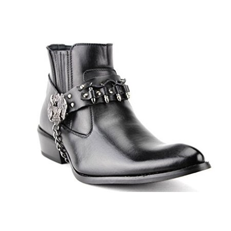 Alberto Fellini Men's Western 3 Motorcyle Chain & Bullet Riding Boots