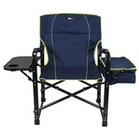 Faulkner Blue With Green Trim Director Chair