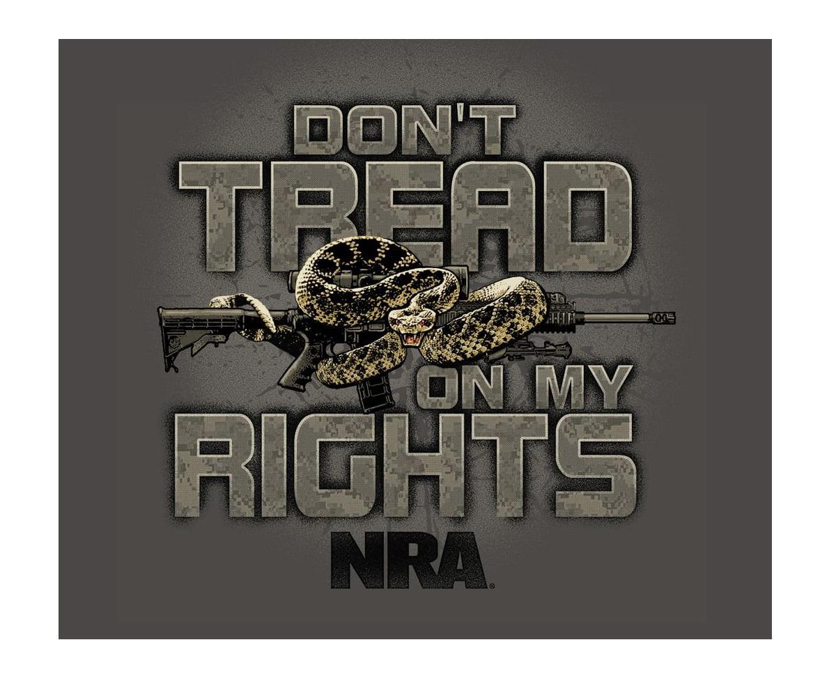 5118ae7f Buck Wear - Buckwear NRA-DON'T TREAD Charcoal Adult Male T-shirt -  Walmart.com