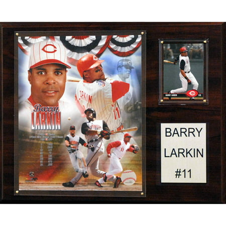 C&I Collectables MLB 12x15 Barry Larkin Cincinnati Reds Player Plaque