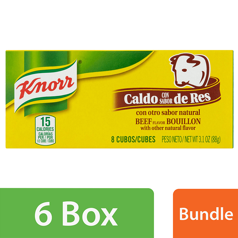 (6 Pack) Knorr Beef Cube Bouillon, 3.1 oz, 8 ct