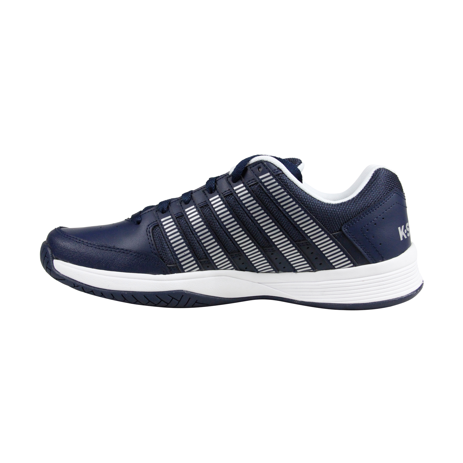 K Swiss Court Impact Leather Junior Boys Girls Court Tennis Trainers