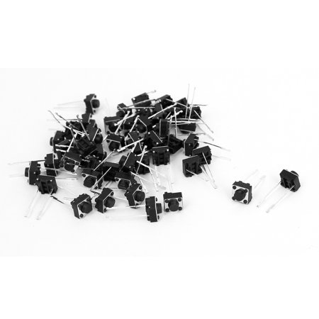50 pcs DIP 2 broches momentané bouton-poussoir Tactile tact commutateurs 6 x 6 x 5mm - image 2 de 2