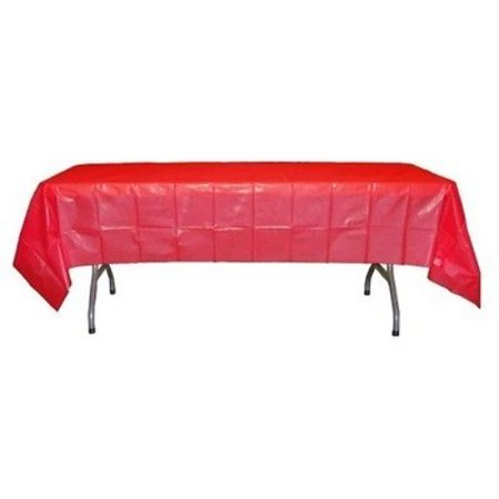 Premium 12 Pack Red Plastic Tablecloth, 108 x 54 Inch](Red Plastic Tablecloth)
