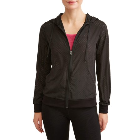 Women's Active Lasercut and Mesh Windbreaker