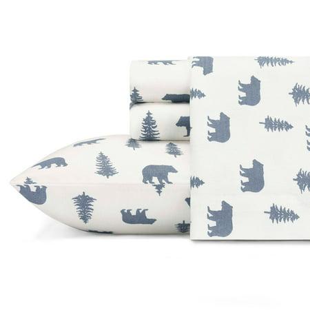 Eddie Bauer Bear - Bears and Trees Flannel Sheet Set by Eddie Bauer