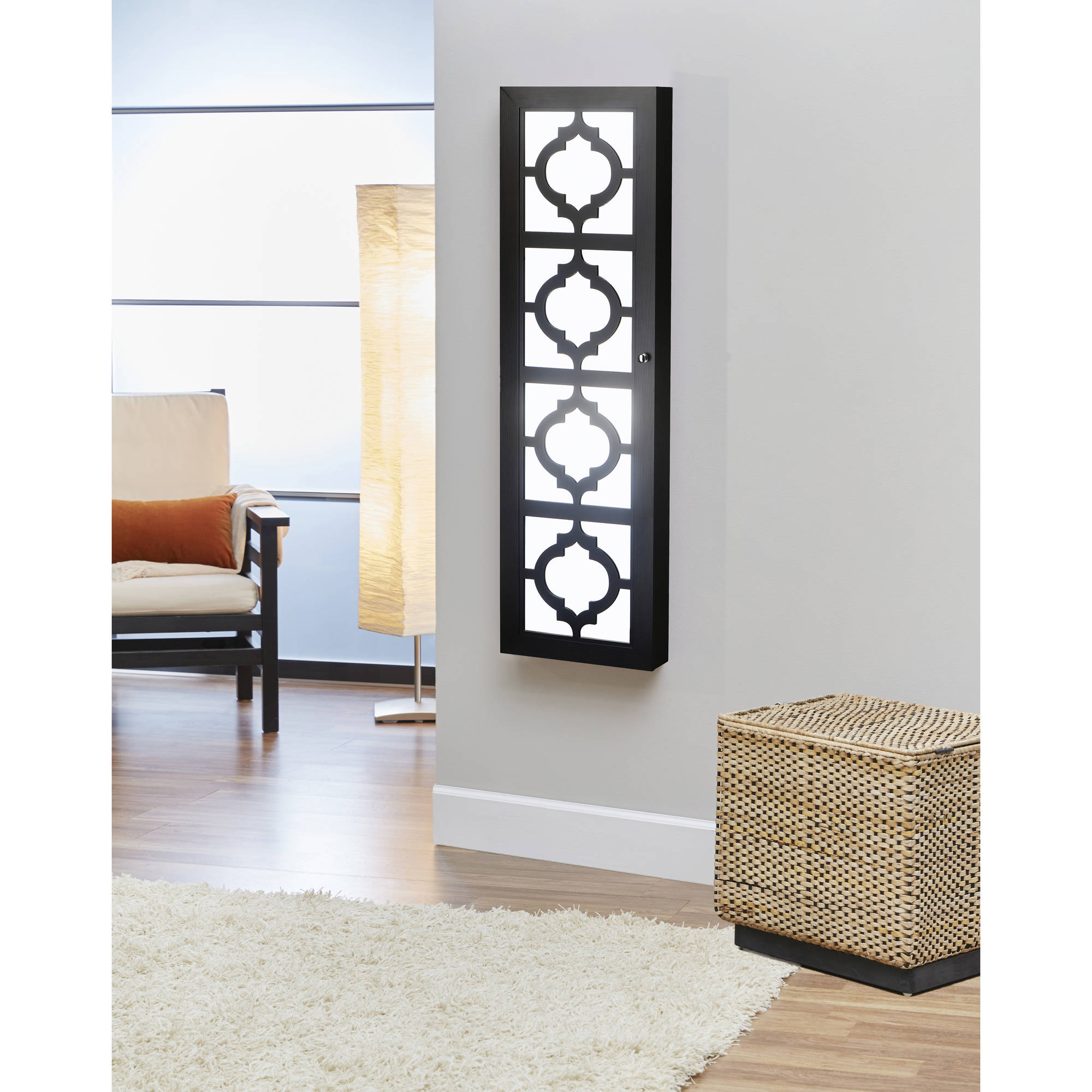FirsTime & Co. Designer Jewelry Armoire with Decorative Front