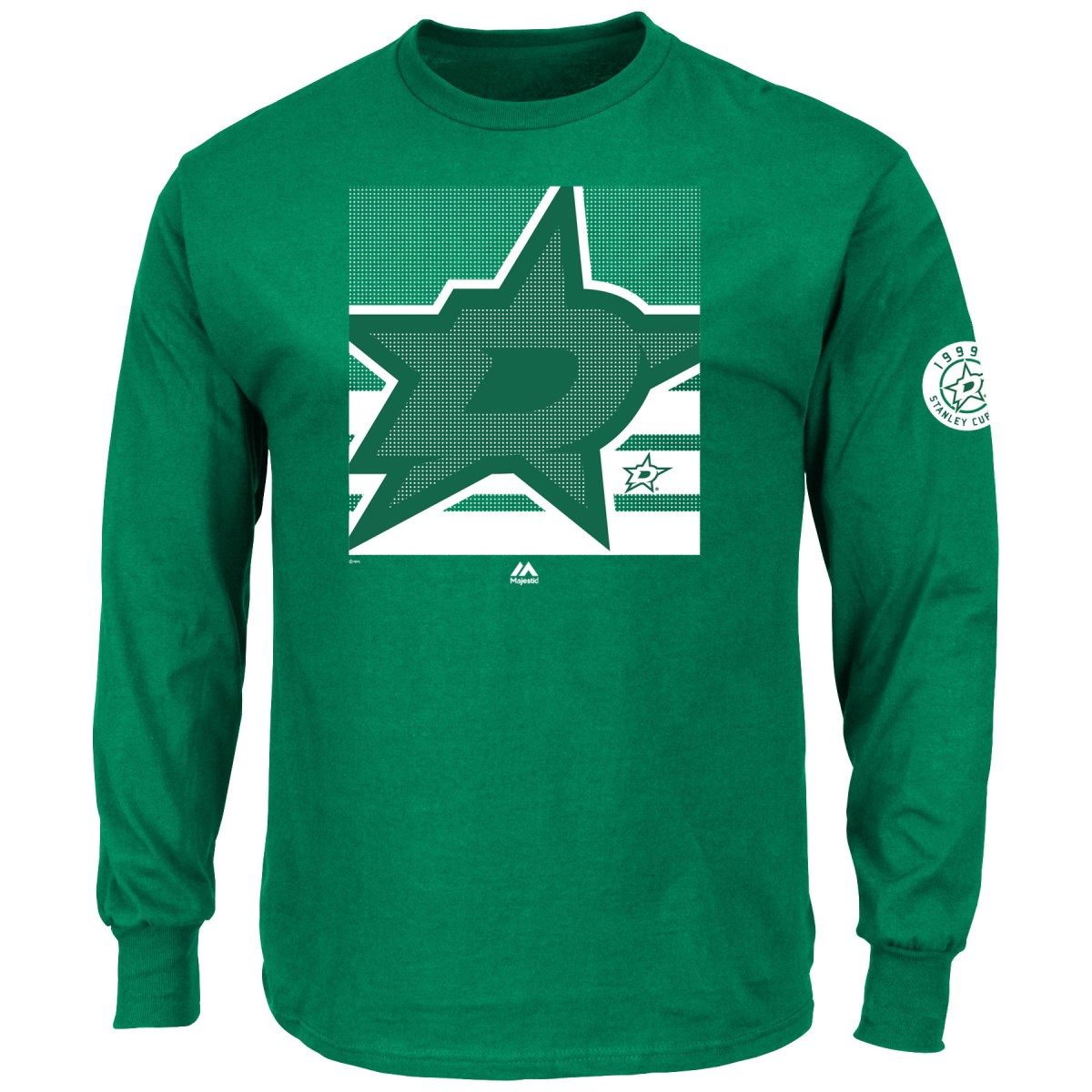 "Dallas Stars Majestic NHL ""Slashing"" Long Sleeve Men's T-Shirt"