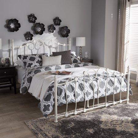 Baxton Studio Victorian White Bed by