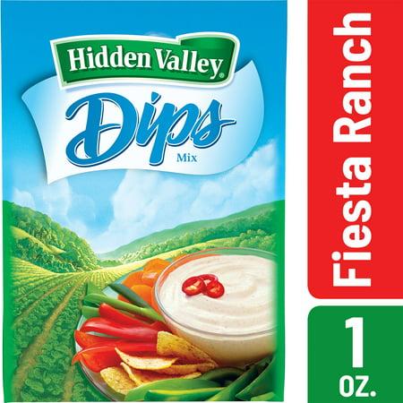 (4 Pack) Hidden Valley Fiesta Ranch Dips Mix, Gluten Free - 1 Packet - Pecan Dip Mix
