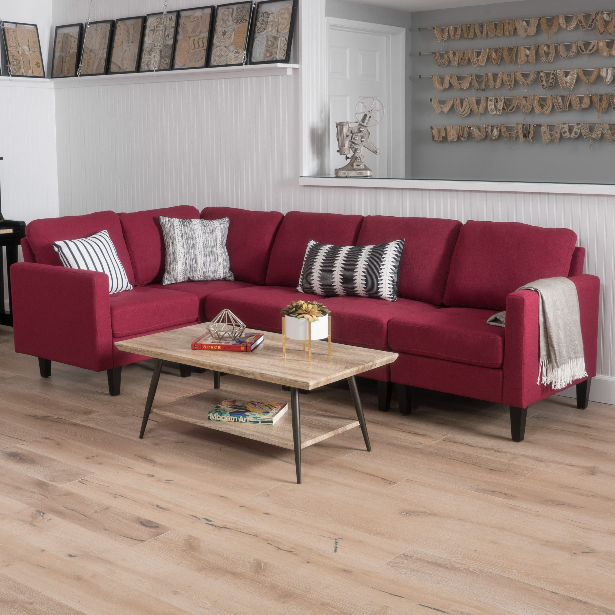 Zahra Tufted Sectional Sofa