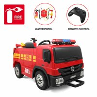 Veryke Electric Cars Toy for Kids, Kids Electric Ride On Cars, 12V Power Ride-On Fire Truck for Children Child, Remote Control Ride On Car, Birthday Gift