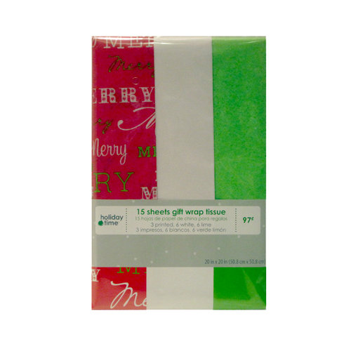 Holiday Time Christmas Tissue Paper