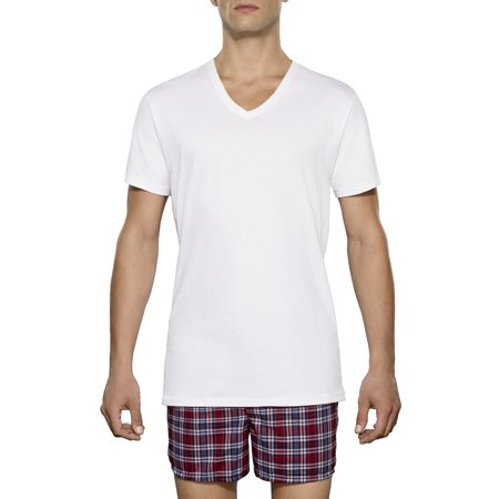 d7dc5ccebe8d8 Fruit of the Loom - Tall Men's Classic White V-Neck T-Shirts, 3 Pack -  Walmart.com