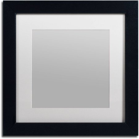 Trademark Fine Art Heavy-Duty 11x11 Black Picture Frame with 7x7 ...