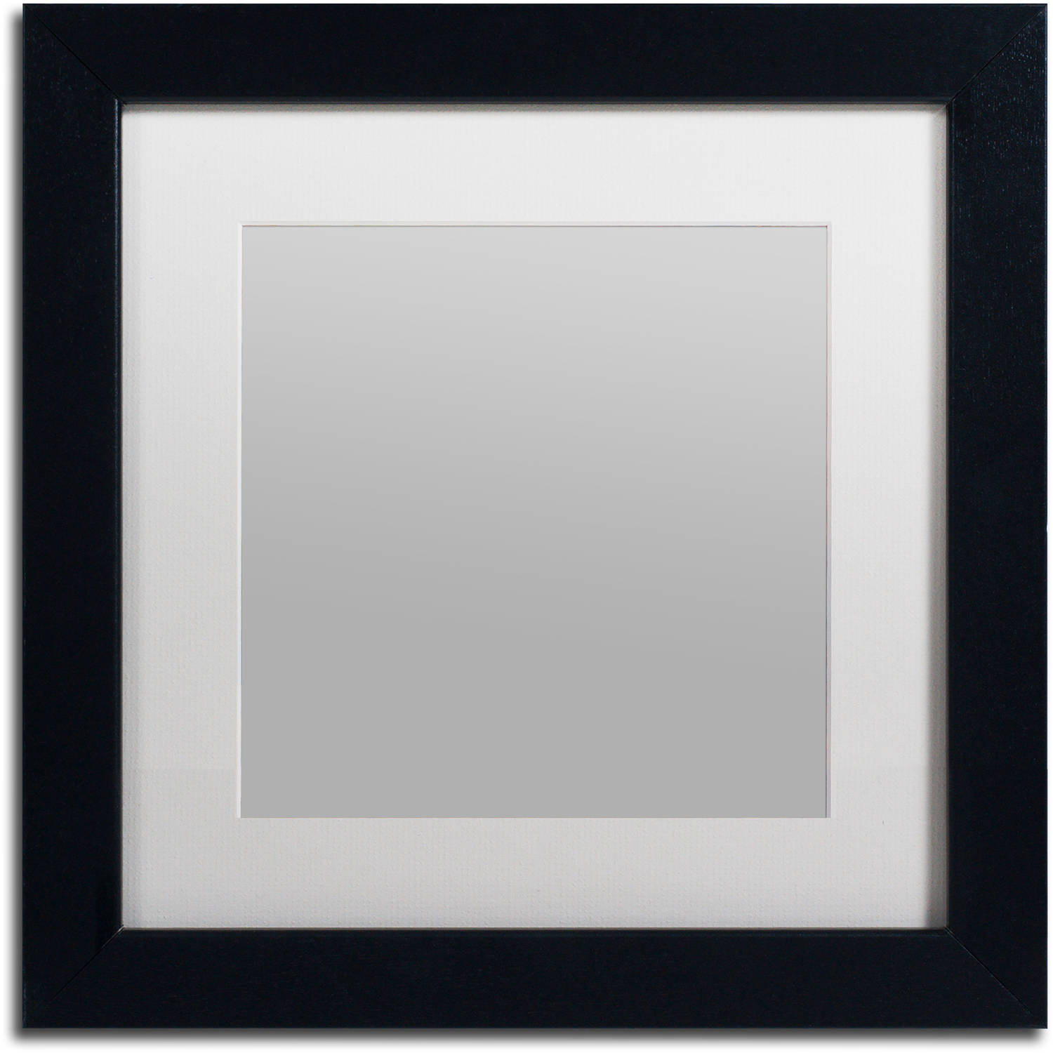 Trademark Fine Art Heavy-Duty 11x11 Black Picture Frame with 7x7 White Mat