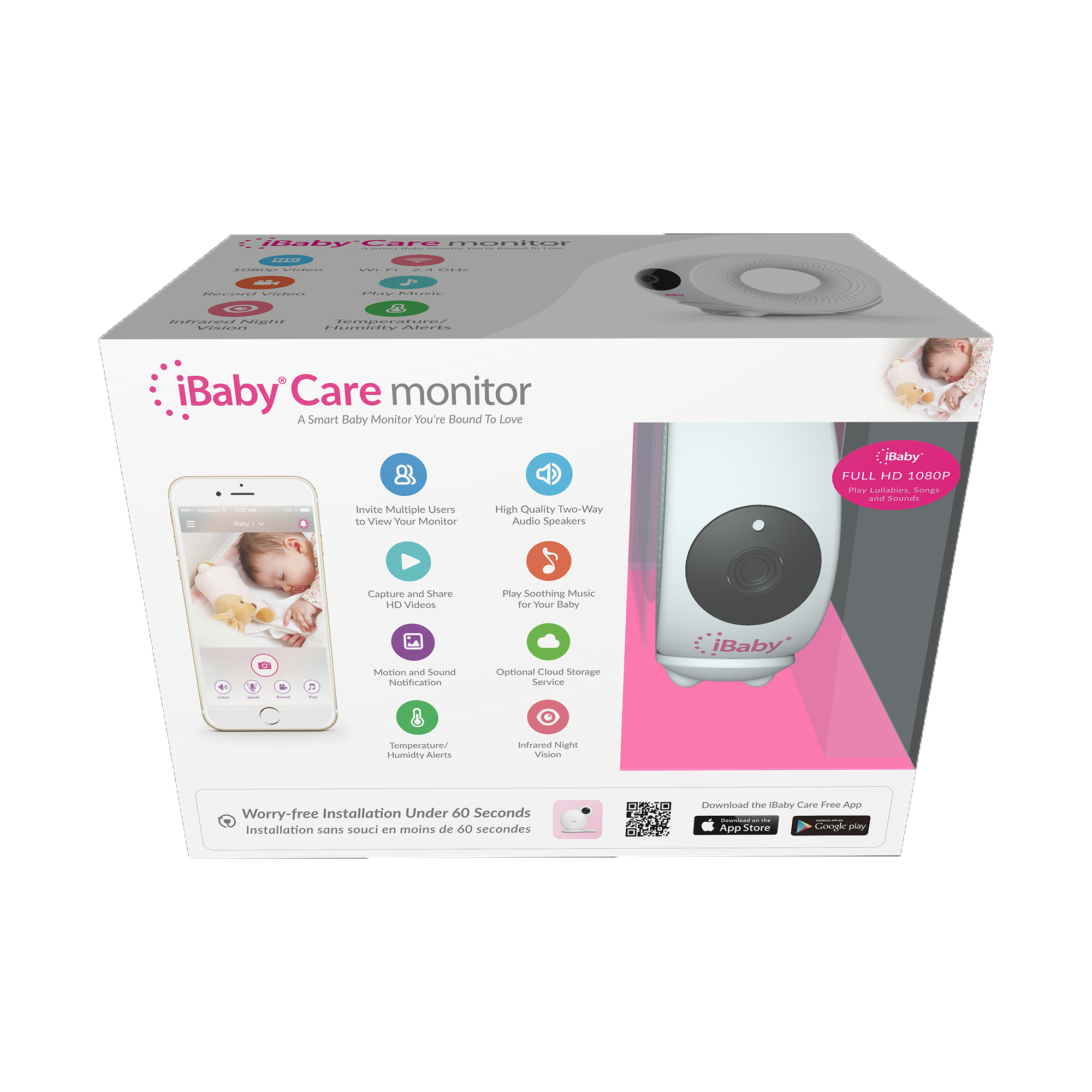 Ibaby Care M2s Wi Fi Baby Monitor Walmart Com