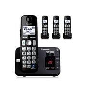 Panasonic KX-TGE234B 4 Handset Expandable Cordless Phone w/ Digital Answering System