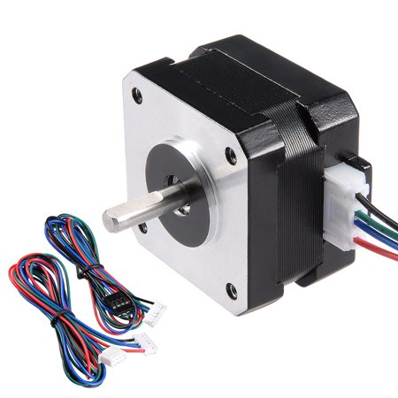 - Stepper Motor 17 Bipolar 16mm 0.315NM 1.5A 3.6V 4 Lead Cable for 3D Printer CNC Router Laser Lathe Machine Stage Light C