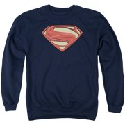 Man Of Steel New Solid Shield Mens Crewneck Sweatshirt