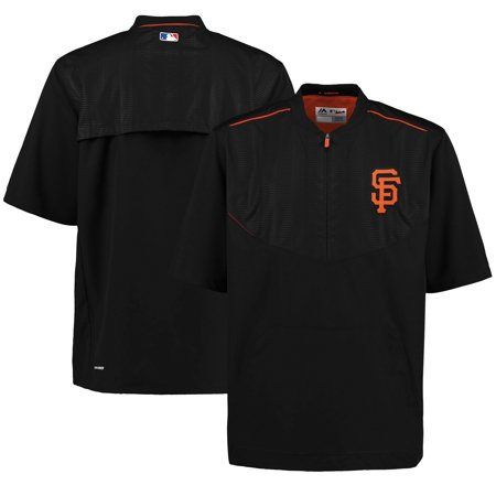 San Francisco Giants Majestic Men's On-Field Training Half Zip Pullover Jacket - (Majestic Trainer Jacket)