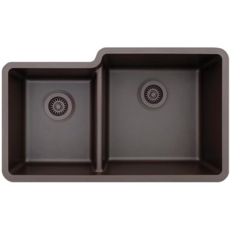 LEXICON Platinum Offset Double Bowl Quartz Composite Kitchen Sink ...
