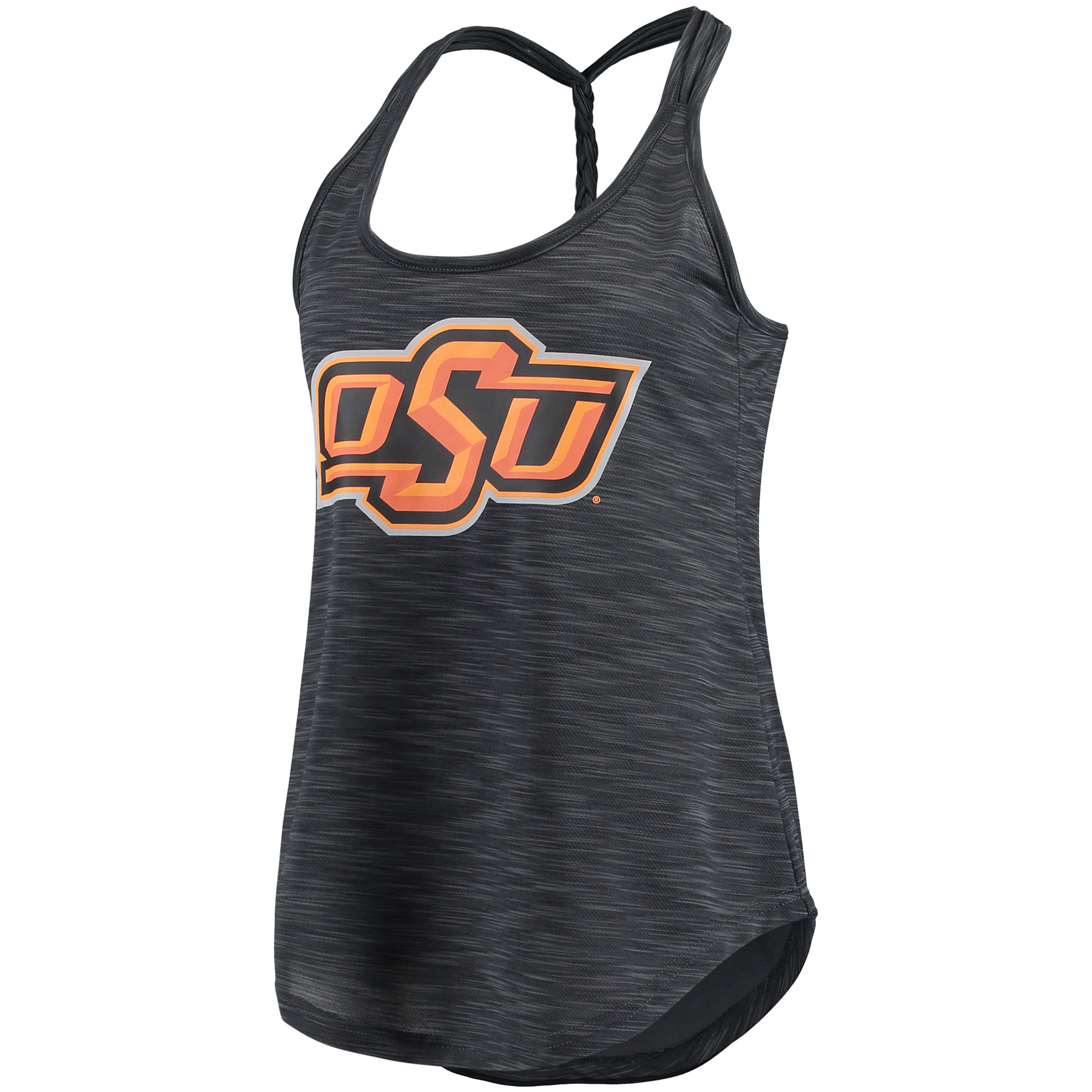 Women's Concepts Sport Charcoal Oklahoma State Cowboys Snapback Tank Top