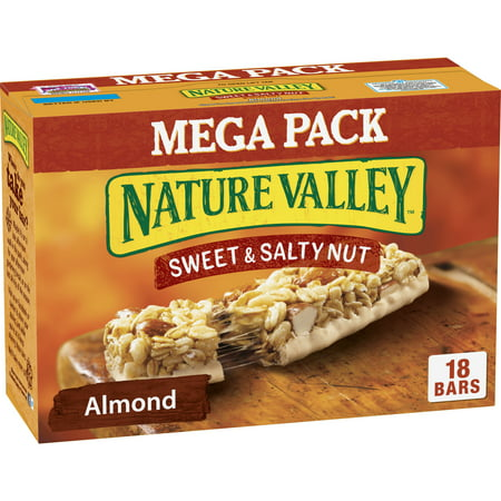 Nature Valley Granola Bars Sweet and Salty Nut Almond 18 Bars 1.2 oz