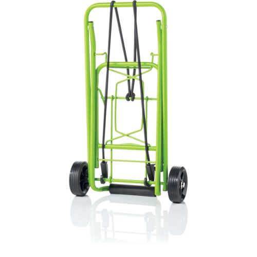 """Conair Travel smart TS36 Folding Luggage Cart - 80 lb Capacity - 3.75"""" Caster Size - Steel - Lime"""