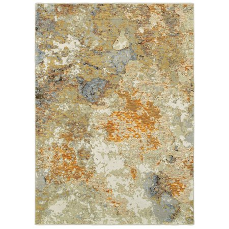 Sphinx Evolution Area Rugs - 8031B Contemporary Gold Eroding Faded Distressed Shaded Rug