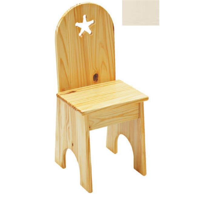 Little Colorado 022LINST Solid Back Star Kids Chair in Linen