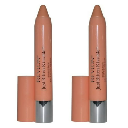 Revlon Just Bitten Kissable Balm Stain, 035 Charm, Pack of 2 + Yes to Coconuts Moisturizing Single Use