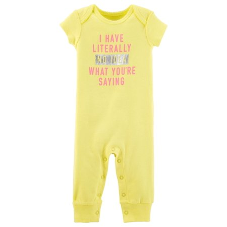 Carter's Baby Girls' No Idea What You're Saying Jumpsuit (Girl Ideas)