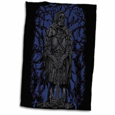3dRose The Reaper - dark gothic skull warrior with axe and armour - Towel, 15 by 22-inch