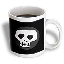 3dRose Skull, Ceramic Mug, 11-ounce](Ceramic Skulls)
