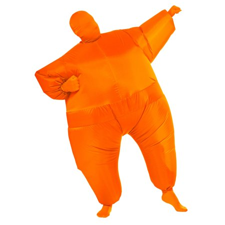 Orange Inflatable Adult Costume](Halloween Inflatables On Clearance)