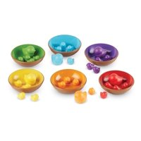 Learning Resources Birds in a Nest Sorting Set, Fine Motor Set, 36 Pieces, Ages 2+