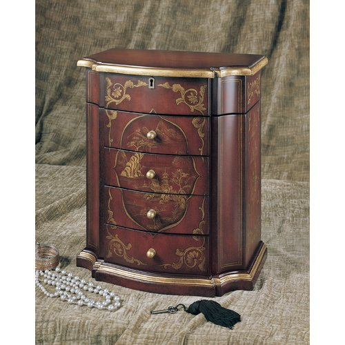 Accent Treasures Ruby Jewelry Box