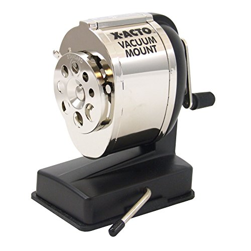 Hunt Model KS, Vacuum-Mount Pencil Sharpener, Chrome Rece...
