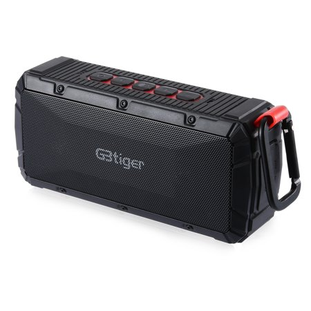 Bluetooth Wireless Speakers, Gbtiger V3 Stereo Wireless Portable Speaker, Black Bluetooth Wireless Speakers, Gbtiger V3 Stereo Wireless Portable Speaker, Black
