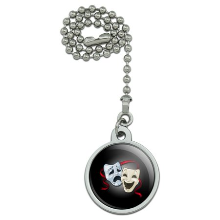 Drama Comedy Tragedy Masks Theater Ceiling Fan and Light Pull Chain](Tragedy And Comedy Masks)