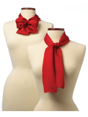8x45 Solid Color Silk Scarf - Red