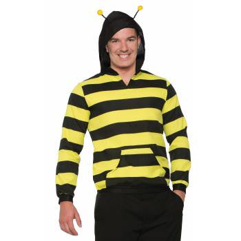 BEE HOODIE W/ANTENNA-STD - Bee Family Halloween