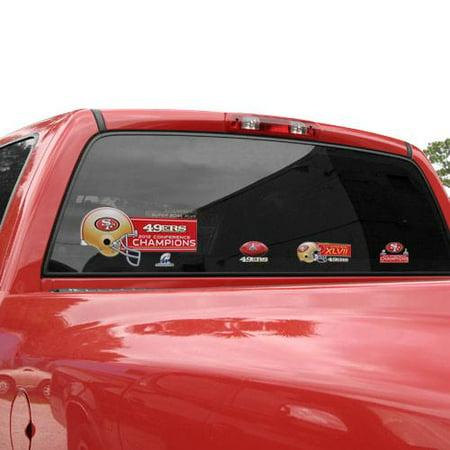 San Francisco 49ers 11'' x 17'' 4-Piece Window Clings Sheet - No Size](49ers Decorations)