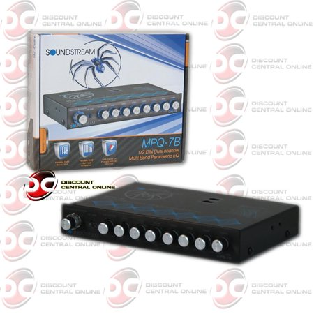 Brand New Soundstream MPQ-7C Car 7-Band Parametric Equalizer With Subwoofer Level Control