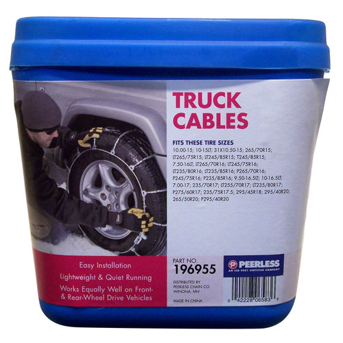 Peerless Winter Track Light Truck Tire Cables, #196955