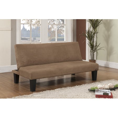 beige microfiber fabric klick klack sofa futon sleeper bed with adjustable back. Black Bedroom Furniture Sets. Home Design Ideas